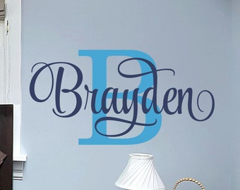 Boys Name Wall Decal Boys Name Decal Boys Name Decor Boys Bedroom Name Decal Wall Decal Wall Decor Boys Bedroom Decal Boys Name Wall Decor
