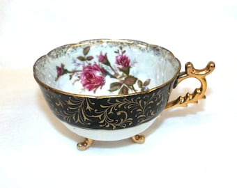 Asian Style Three Footed Teacup, No Saucer