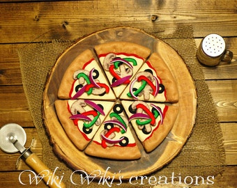 Felt Food Veggie Pizza with Box