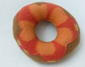 Tan with Orange Petals Dog Donut Toy