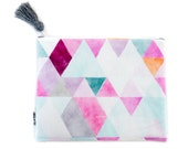 Nappy Clutch Diaper Clutch Watercolour Geo