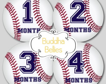 Baby Boy Month Stickers Baseball Nursery Baby Monthly Sticker Baby Boy Monthly Baby Sticker…Favorite Baby Shower Gift - B115