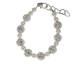 Baby, Child Sparkling Keepsake White Bracelet (BSHW)