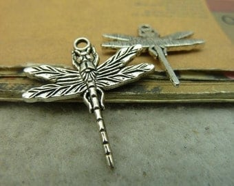 10pcs 29*31mm antique silver  dragonfly charms pendant C4361