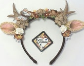 RESERVED TO FERNANDO-Brown Deer Anthler Headbands-Whimsical -Woodland-Kawaii-Fairy Kei-Sweet Lolita-Brown-Deer Anthlers-Horns