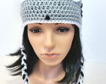 Totoro Hat- Crochet Hat- Crochet Totoro Hat-Grey Hat- Soot Sprites-