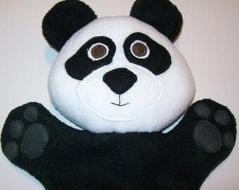 "13"" Fleece Panda Hand Puppet - Ready to Ship!"