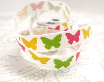 Butterfly Grosgrain Ribbon 3/8 -- 4 feet -- American Crafts