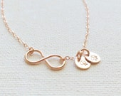 Infinity Initials Necklace /Personalized Infinity Initials Necklace/ Handmade by CoCo/ Faith Forever / In Gold, Silver and Rose Gold Filled