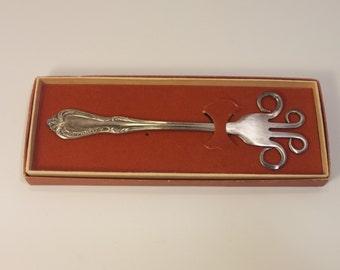 Vintage Practical Joke Gag Gift - DIET FORK - silverplate