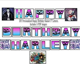 Suicide Squad Happy Birthday Banner
