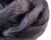 EBONY - Black Tussah Silk Roving, 1 oz.
