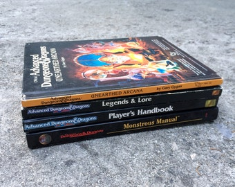 Dungeons & Dragons -- Collection of four vintage reference books for tabletop adventuring