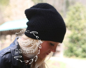 CROCHET PATTERN Beanie Pattern for Slouchy Hat The Alcaster