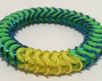 Lucio Inspired Stretch Box Chain Chainmaille Bracelet