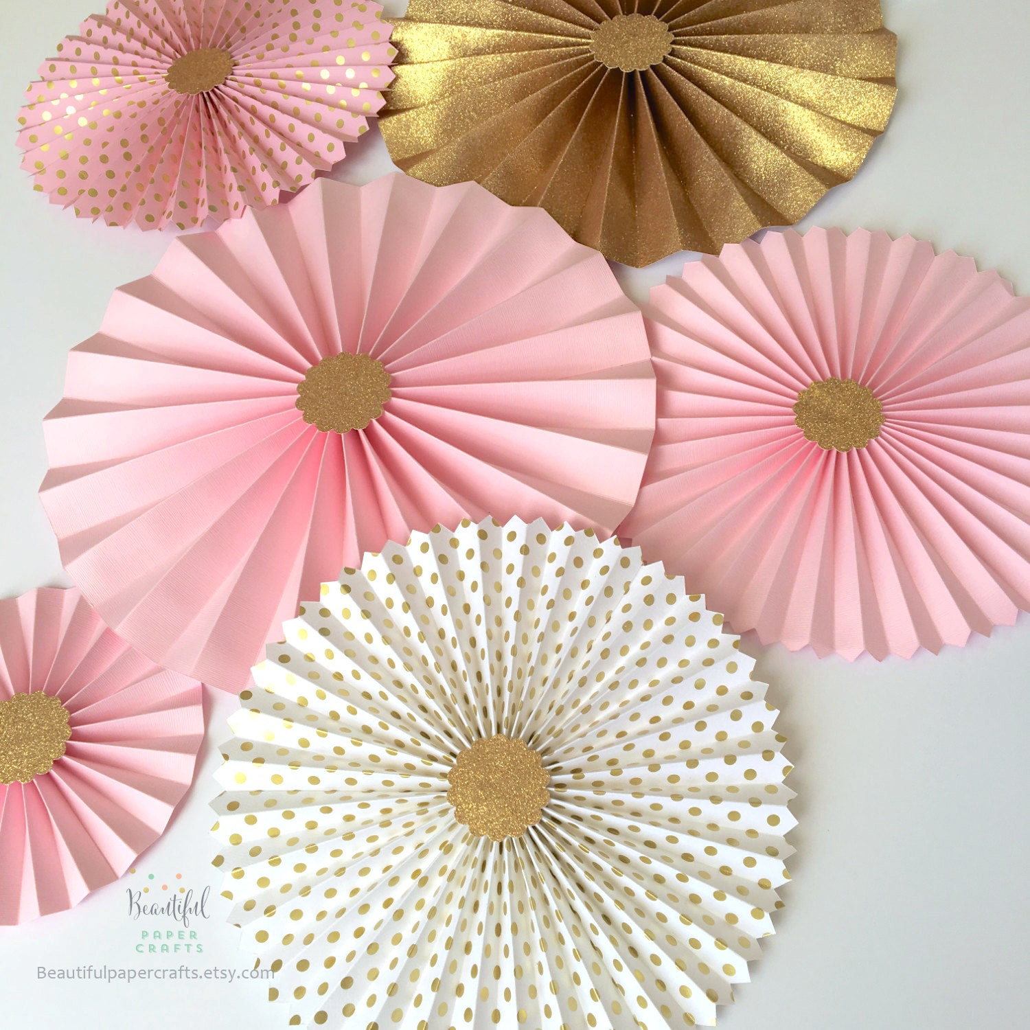 Pink And Gold Glitter Paper Fan Backdrop Pink And Gold