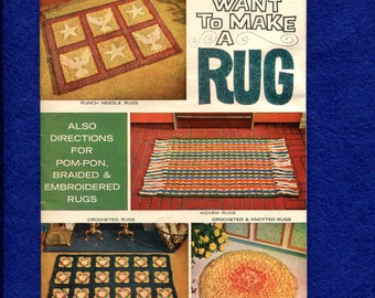 Vintage 1970's Scatter Rugs for Crochet Knotting & Braiding Pattern Booklet