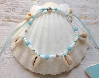 beach anklet, boho jewelry, beachcomber beach jewelry, mermaid anklet, bohemian jewelry