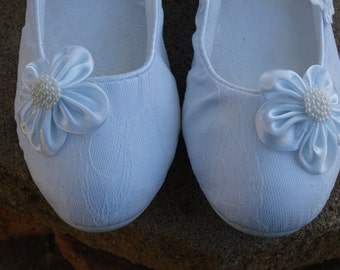 Bridal Flats Wedding WHITE  SHOES Comfortable Vegan with Pearls Flower appliqué shoes - Wedding flats ivory rose, Mary Janes slipper