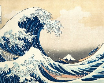 Japanese Art. Fine Art Reproduction. The Great Wave at Kanagawa, c.1830 by Hokusai. Fine Art Print
