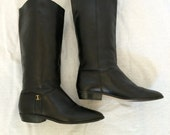 RESERVED Etienne Aigner Riding Boots // Black Leather // 9.5 // Equestrian