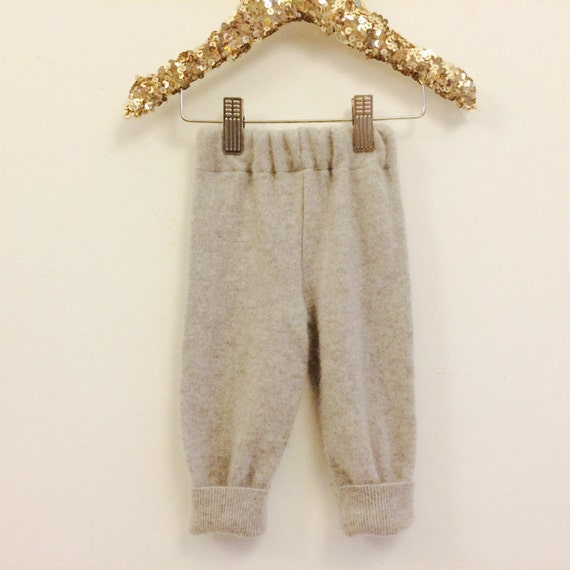 SWEEP Baby Babies Cashmere Trousers Leggings Upcycled Cashmere 0-3m Unisex
