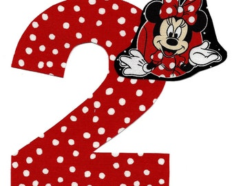 Minnie Mouse applique with number- iron on DIY