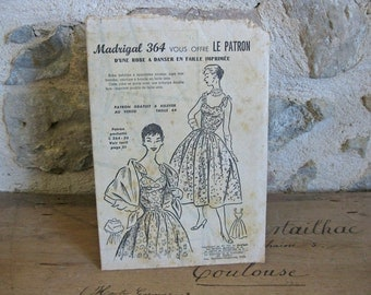 1950s sewing pattern Madrigal 364 for sundress with stole wrap