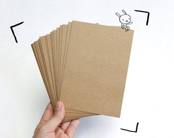 25 Kraft Paper Blank Postcards / Kraft Card stock, Size 4.2x6 inch - for postcard, greeting card, invitation, note cards or letterpress