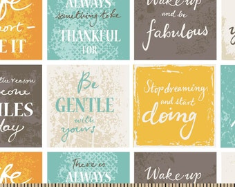Snuggle Flannel Prints - Inspirational Sentiments - 1 yard 21 inches