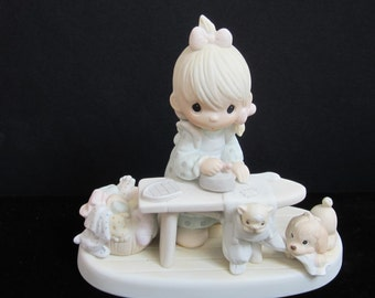 "New Listing 1982 Porcelian collectible  "" Preciouis Moments Press On"""