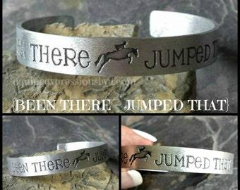 Hand Stamped Horse Cuff Bracelet-Hunter jumperHorse Lover Jewelry-Equestrian Jewelry