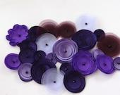 Assorted Purple Mix Poppies Embellishment