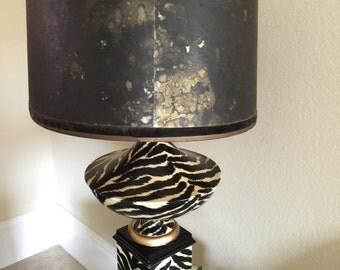 Lamps, large vintage lamps,asian lamps, zebra print items, vintage sliding