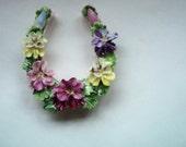 Royal Adderley Floral Horseshoe