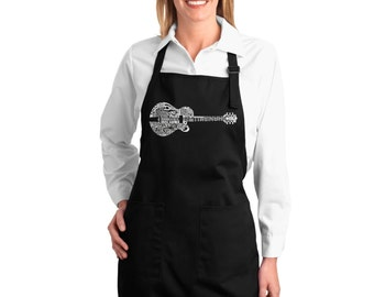 Full Length Apron - Country Guitar Created using the some of Country Music's Most Legendary Names.