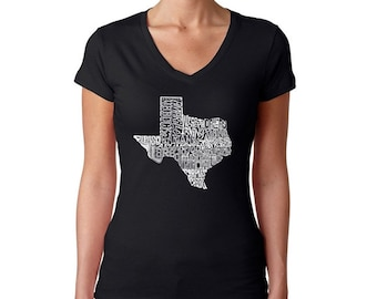 Women's V-neck T-Shirt - The Great State of Texas