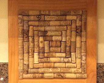 Wine Cork Bulletin Board, Light Stain Wood Frame, Wine Cork Art, Wine Cork Display, Wine Cork Home Decor, Bar Decor