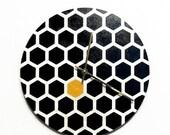 Sale, Modern Wall Clock, Hexagon, Black and White Decor, Home Decor, Decor and Housewares, Home and Living,