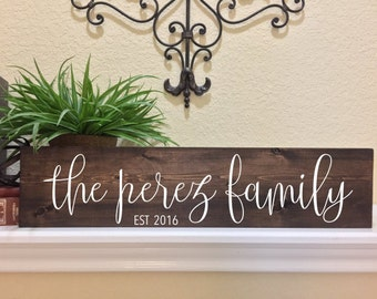 Family Name Sign Family Established Sign Family Established Wood Sign Last Name Sign