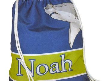Personalized Drawstring Shark Bag