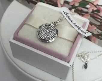Authentic Pandora Signature pendant and adjustable necklace