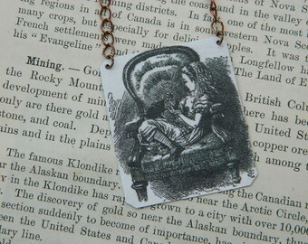 Alice In Wonderland necklace Literature  jewelry Through the Looking Glass
