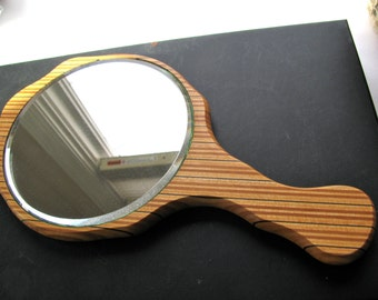 "Hand mirror, vintage mirror, length 10 inches, 5 and 1/2"" wide"