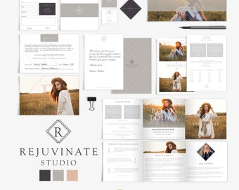Modern Minimal Marketing Suite - Photography Marketing Kit - Photography Contracts - Branding - Logo Set - Price List - Brochure - SKU MP005