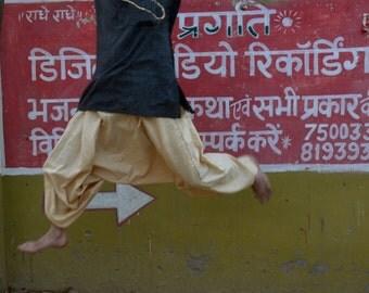 Aladdin Alibaba Harem Tribal Pants Khadi Cotton or Khadi Silk One Size Unisex