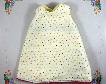Dotty spotty dolls dress