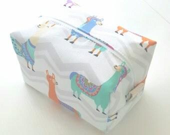 Llama Makeup Bag  - Cosmetic Pouch - Bridesmaid Gifts - Wet Bag - Waterproof Bag