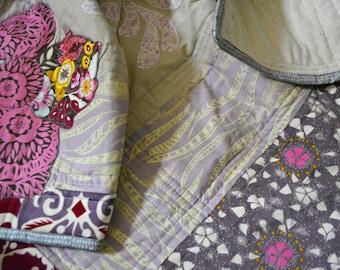 Purple Baby Quilt - Crib Quilt - Anna Maria Horner Fabrics
