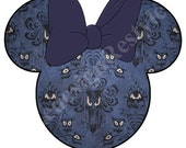 Minnie Mouse Haunted Mansion Halloween Blank Iron-On Digital File